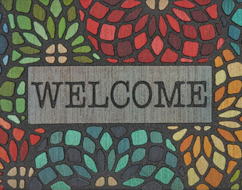 Mohawk Doorscapes Stained Glass Floret Welcome Mat