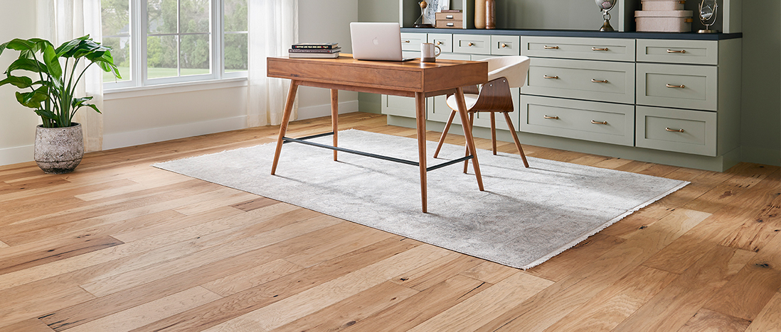 Home Office With Area Rug