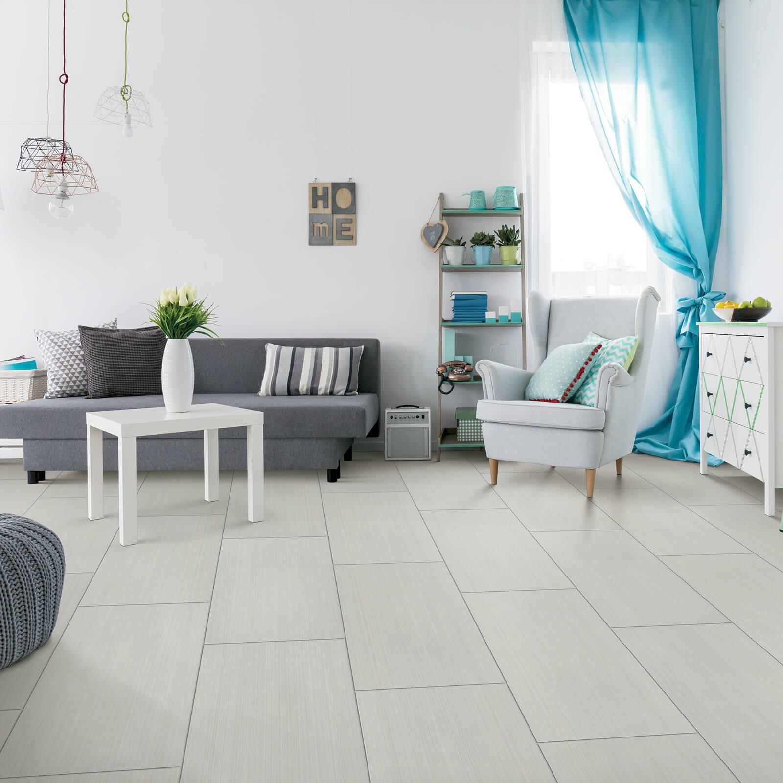 Large Tile in Living Room