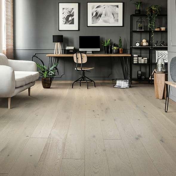 Room with Light Hardwood Floors