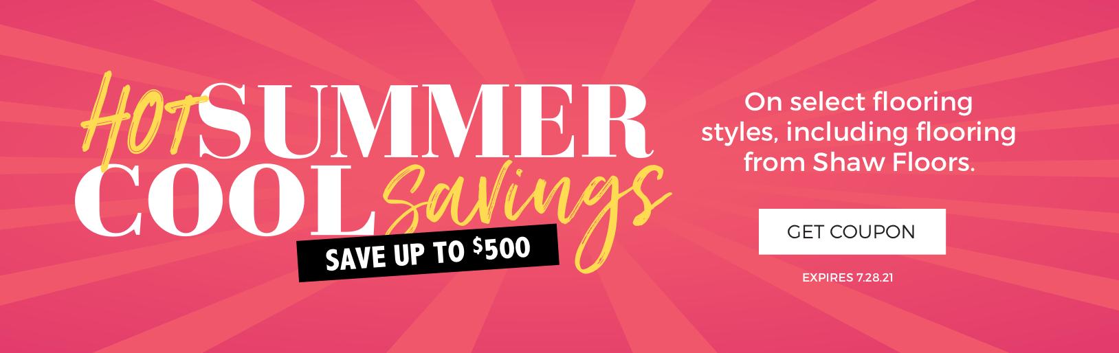 Hot Summer, Cool Savings sale